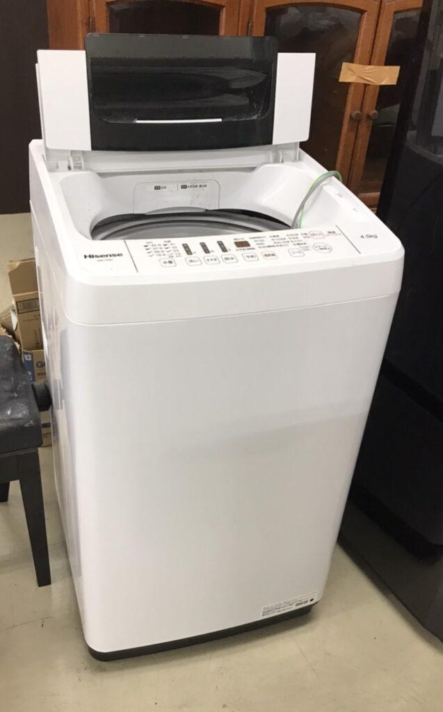 不要品の洗濯機の写真
