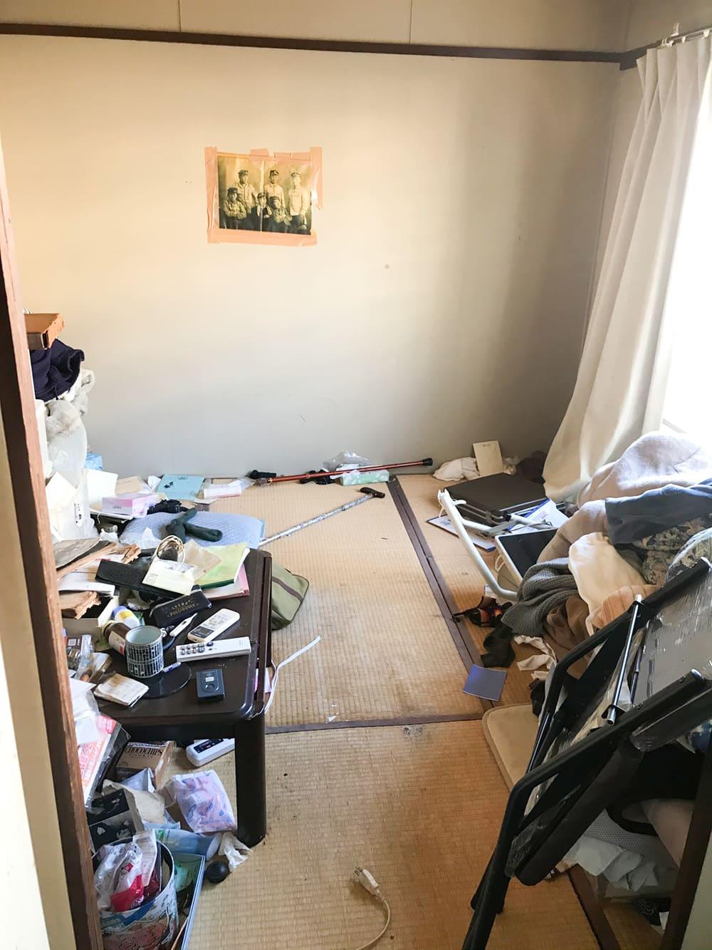 遺品整理を行う前の部屋の様子