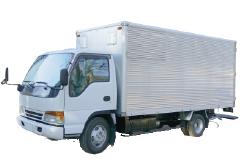2トントラック(アルミ板ハコ車)の写真
