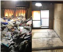 ゴミ屋敷片付け前と片付け後の写真